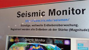 Portal für seismische Ereignisse weltweit