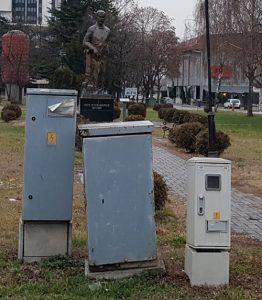 Skopje, Infrastruktur, windschief aber funktionabel