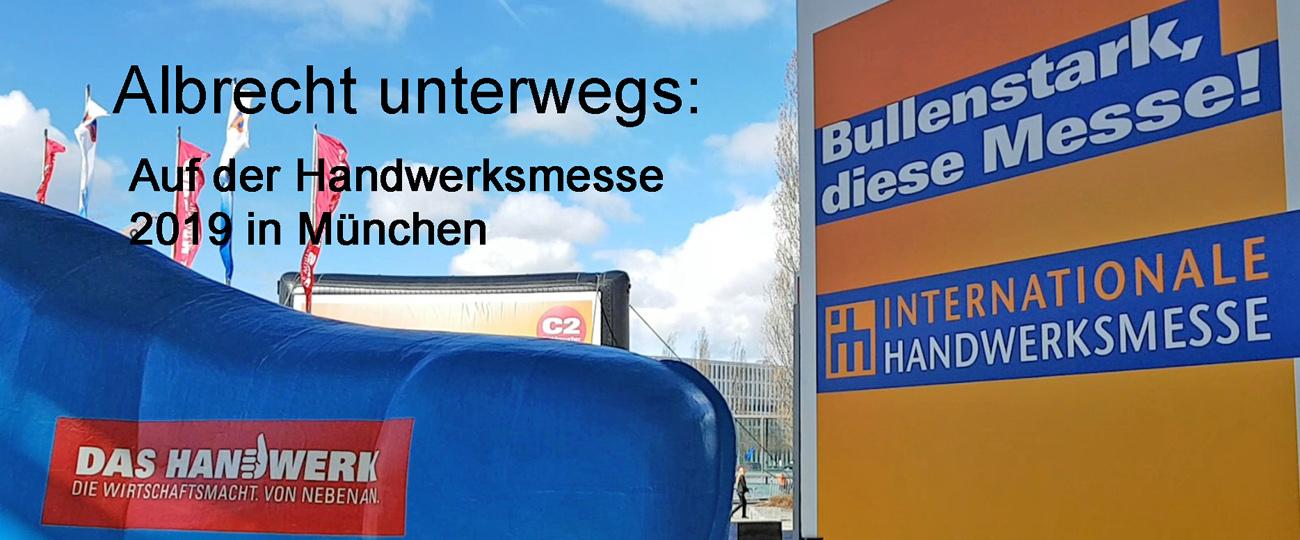 Überraschung auf der Handwerksmesse München